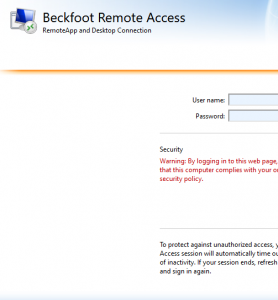 Beckfoot School Remote Desktop